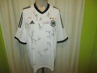 """Deutschland """"DFB"""" Adidas Weltmeisterschaft Trikot 2002 + Handsigniert Gr.XL TOP"""