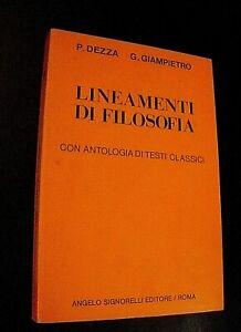 Dezza Giampietro LINEAMENTI DI FILOSOFIA / Signorelli 1984