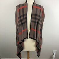 Bajee Collection By Becool Women's Open Waterfall Cardigan Size M/L Brown Black