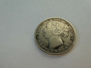 1894 Newfoundland Canada 92.5% Silver 20 Cents, / Circulated.