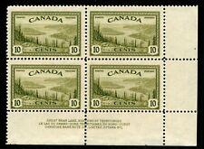 ES-13526 CANADA UNIITRADE 269 GREAT BEAR LAKE NWT PLATE BLOCK #2 MNH $10