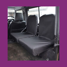 Land Rover Defender 90 110 1983-07 Tailored Waterproof 2 Dicky Seat Covers Black