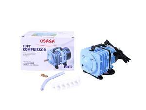 OSAGA Kolbenkompressor LK-60 Luftpumpe Sauerstoffpumpe Teich-Belüfter 3.600 l/h