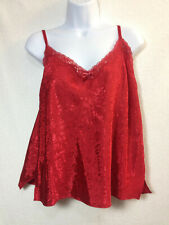 George Sleepwear Womens 2XL Intimates Roses Red Satin Night Tank Camisole V-Day