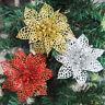 Fj- 5Pcs Brillantini Cavo Artificiale Natale Fiore Ornamento Albero Ghirlanda D
