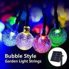 Outdoor Solar Powered 30 LED String Light Bubble Ball Garden Path Lamp Decor