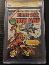 Giant Size Iron Man #1 CGC 9.2 Signed Stan Lee Marvel MCU ONLY 5 SS EXIST