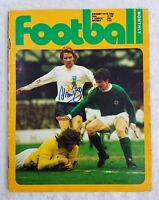 Alan Ball Autographed Signed Vintage Football Monthly 1973 Magazine Soccer
