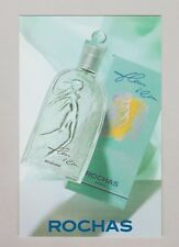 Carte publicitaire + patch - perfume card  -  Fleur  d'Eau de Rochas