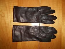 Dark Brown Leather Gloves, Marks & Spencer, Size M - Very Good Condition