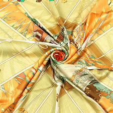 Auth Hermes Paris VARANGUES Silk Scarf Foulard DIMITRI RYBALTCHENKO 90cm