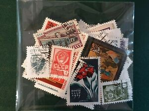 50 Russia cccp - Mixed Years  - Used Stamps