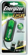 Energizer AA AAA USB Battery Charger + 4 AAA 850Mah NiMH Rechargeable Batteries