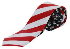 Trendy Skinny Neck Tie - Stars and Stripes USA American Flag