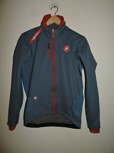 Castelli  Size Large Gore Wind Stopper Jacket Gray Red