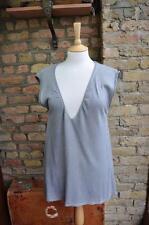 River Island grey oversized  8 - 12 tunic aline fine knit s/s sweater jumper