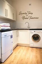 Laundry Today or Naked Tomorrow wall art sticker Home laundry room utility room