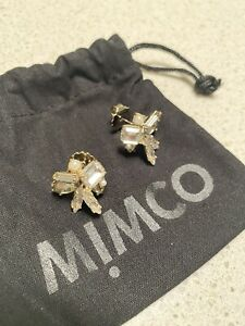 Mimco Antique Gold Crystal Earrings