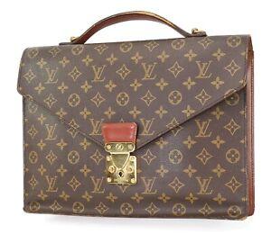 Auth Vintage LOUIS VUITTON Serviette Conseiller Monogram Briefcase Bag #40605