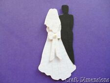ASSEMBLED 3D BRIDE AND GROOM DIE CUTS FOR WEDDING INVITATIONS AND CARD TOPPERS