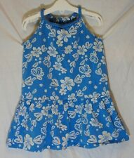Girls Vertbaudet Blue White Floral Sleeveless Braided Blouse Top Age 8 Years