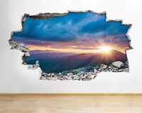 Wall Stickers Mountains Sunset Sky Scenic View Nature Decal Poster 3D Art B143