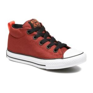 Converse Chuck Taylor All Star Street Mid Red Block Shoes