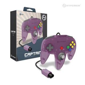 Nintendo 64 Captain Premium Controller For N64 (Amethyst Purple) - Hyperkin