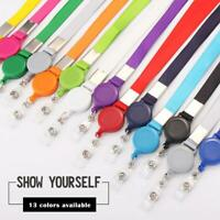 Lanyard ID Card Holder Neck Strap Rhinestone  Retractable Reel Holder