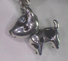 UNBRAND 925 STERLING SR DANGLE SPOTTED BLU EYE JACK RUSSEL DOG EUROPE BEAD CHARM