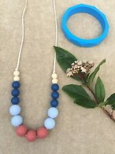 SALE Teething Necklace and Bracelet for Mum and Baby Set BPA FREE Silicon
