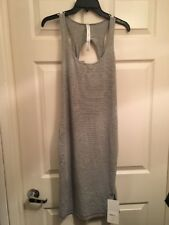 Lululemon Go For It Dress NWT Sz 6 HYMG Grey Striped Color Hyper Stripe