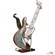 XXL - Luxus Skulptur E-Gitarre Metall Figur Gilde Gallery ca. 80x70x15 cm