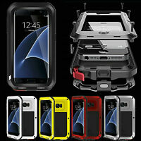 Waterproof Shockproof Aluminum Metal Case Cover W/ Glass For Samsung iPhone 7/6s