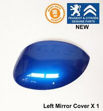 Peugeot 206 206+ Left Passenger Side Mirror Wing Cover Cap Blue Ipanema New