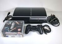 Sony PlayStation 3 PS3 80GB Console Controller Cables 5 Games CECHM03 Bundle