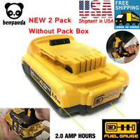 2 x NEW DCB203-2 OEM DEWALT 20V Max Lithium-Ion Battery Packs Model DCB203
