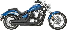 Vance & Hines 48501 Twin Slash Staggered Exhaust System ~ Black Yamaha Stryker