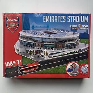 Arsenal FC Football Club Emirates Stadium 3D jigsaw puzzle - 108 Pieces NIB