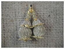 Set of 2 Blouse Kurti Latkan Tassle gold colour, white stone, 7 cm long