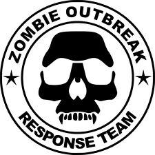 Zombie brote equipo de respuesta Funny car/ipad Jdm Vw Euro Vinilo Autoadhesiva De 7