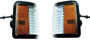 1986-88 Chevrolet Monte Carlo LS header panel turn signal Marker Light lens set