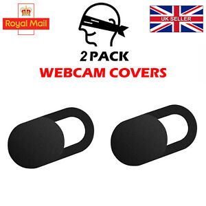 2PCS Webcam Cover Shutter Privacy Slider Camera Macbook Laptop Mobile Phone UK T