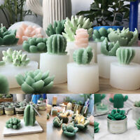 Succulent Cacti Plant Candle Mold Moulds DIY Craft Silicone Plaster Art Access