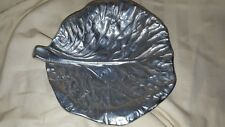 Vintage Bruce Fox Aluminum Cabbage Leaf Candy Dish Wilton Columbia Pa 6 1/2 inch