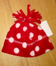 New baby girl red and white polka dot hat age 1/2 years