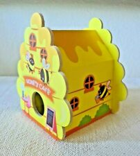"Yellow Bird House ""Honey Cafe"" Free Standing Bird House Bees New"