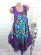 SOMMER Kleid Strandkleid Tunika Trägerkleid Hippie IBIZA Lila 46 48 50 (806)