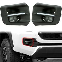 For 2016 To 2021 TOYOTA Tacoma TRD Pro Led Rigid Style Fog Lights With Bezels