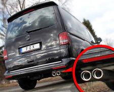 Fox acero inoxidable escape deportiva VW t5 furgoneta Multivan Caravelle Transporter 2x88x74mm